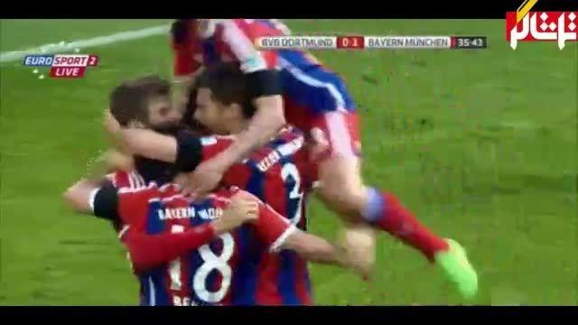 خلاصه بازی : دورتموند 0 - 1 بایرن مونیخ  ( ویدیو )
