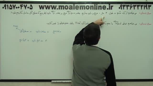 آموزش مشتق - کاربرد مشتق در بهینه سازی