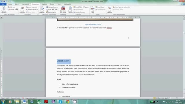 توضیح: نحوه ساختن فهرست مطالب به صورت اتوماتیک در Micr