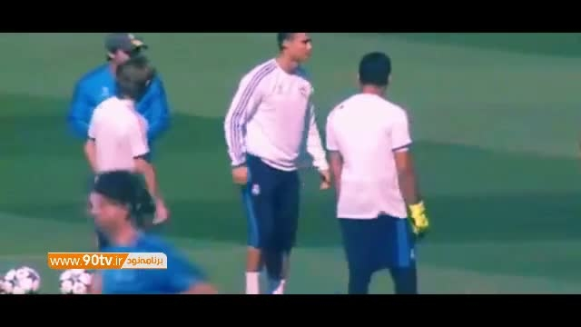دست انداختن رونالدو توسط بازیکنان رئال مادرید