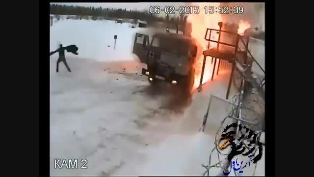 انفجار تریلی گازوئیل