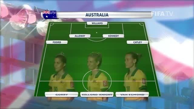 ترکیب : ژاپن VS استرالیا (جام جهانی زنان 2015 کانادا)