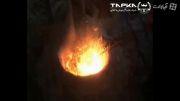 تولید بلیت فولاد (شمش دستی) با کوره القایی - شرکت تپکا