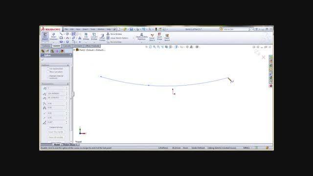 آموزش دستور Spline on surface- نرم افزار Solidworks