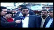 محسن فروزنده بخش رئیس  اتاق اصناف شهریار در نمایشگاه بهاره