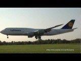 لمس باند پرواز فرودگاه هامبورگ و تیک آف