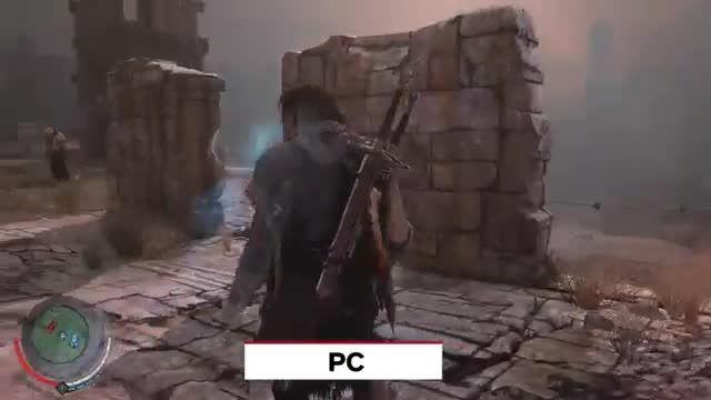 مقایسه گرافیک  Shadow of Mordor در  pc , xbox one ,ps4