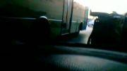 تصادف زیر پل پارک ملت مشهد سرعت بالا