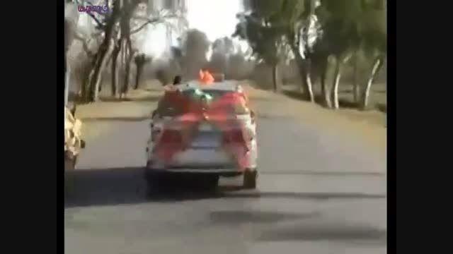 تصادف شادی کاروان عروسی را بر هم زد+فیلم ویدیو کلیپ