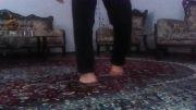 حرکت فوق العاده (راه رفتن روی انگشتان پا )!!!!!