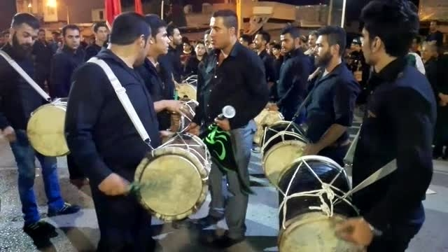 سنج و دمام بوشهری کوی چهابی کازرون  شب ششم محرم 94
