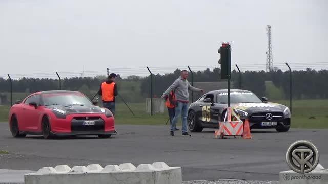 نیسان جی تی ار و مرسدس بنز ای ام جی GT S