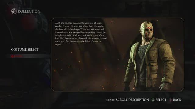 Mortal Kombat X -Jason Voorhees  New Kombat Pack DLC