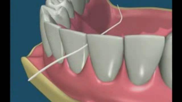 نحوه صحیح نخ دندان زدن