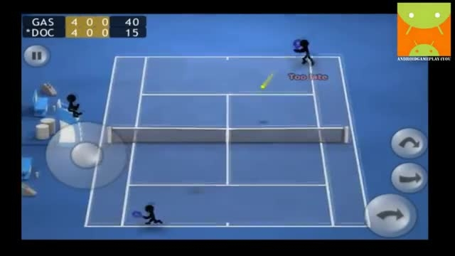 گیم پلی بازی اندرویدی Stickman Tennis