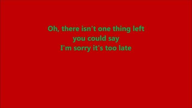 Avril Lavigne - Let Me Go (Chad Kroeger) (Lyrics)