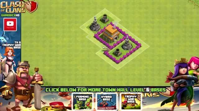 بهترین نقشه Town Hall 6 بازی Clash of Clans