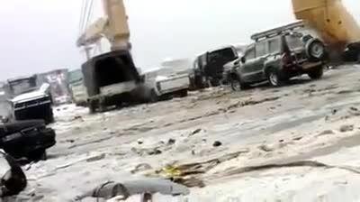 اتومبیل های صادراتی در وسط اقیانوس