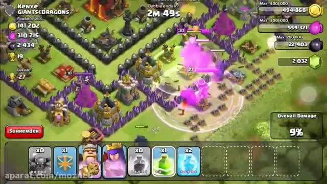 clash of clans attack for P.E.K.K.A