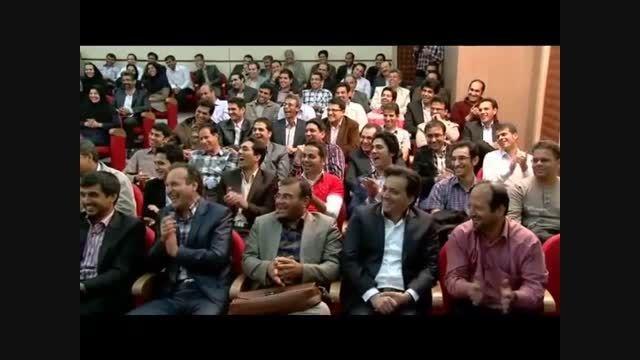 جوک و کل کل خنده دار مجری و حسن ریوندی در اجرا برنامه