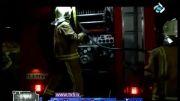 انفجار و آتش سوزی شدید خودرو و مرگ راننده