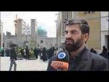 Iraqi Shiite Muslims travel on foot to Mashhad to pay tribute to Hazrat Fatimah