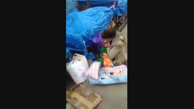 کتک زدن بچه شیرخوار !