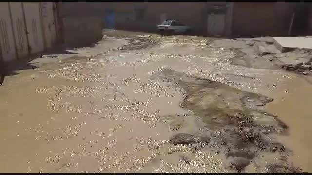 شکستگی لوله آب مسجدسلیمان