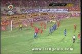 گل اول استقلال به فولاد توسط فرهاد مجیدی