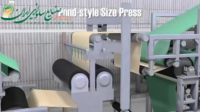 عملکرد دستگاه سایز پرس در ماشین کاغذ