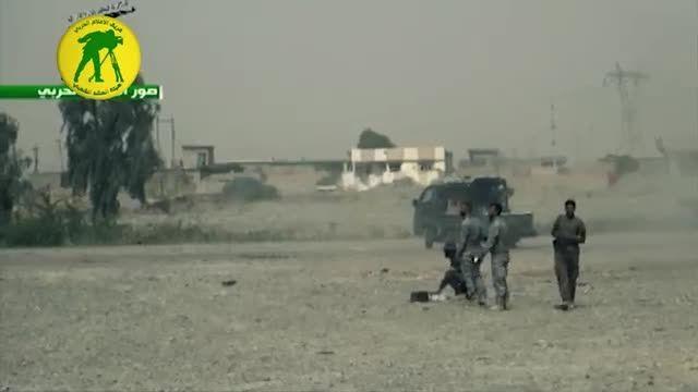 فرار تروریست های داعش از نبرد با نیروهای مردمی