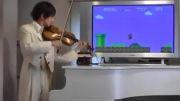 اجرای آهنگ سوپر ماریو با ویولون