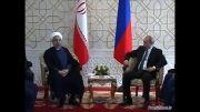دیدار روسای جمهوری ایران و روسیه در حاشیه اجلاس شانگهای