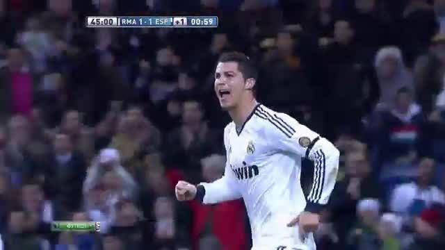 هایلایت بازی کریستیانو رونالدو مقابل اسپانیول (2013)
