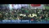 ورود هیئت امام حسین علیه السلام به میدان تعزیه روستای نشلج - تاسوعا 1391