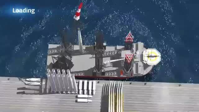 انیمیشن مراحل نصب مزرعه باد فراساحلی