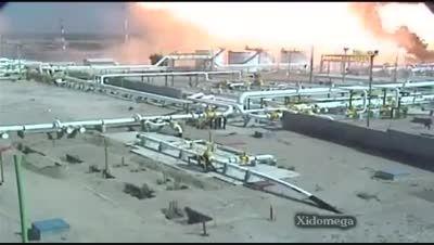 انفجار بزرگ در پالایشگاه نفت