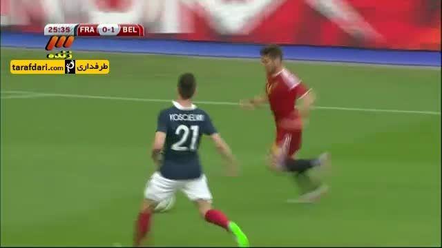 خلاصه بازی فرانسه 3-4 بلژیک