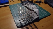 ساخت مکعب با led (به صورت سه بعدی)