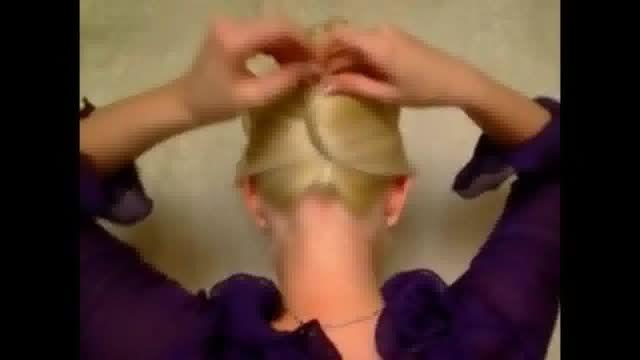 یک مدل موی بسیار زیبا و ساده