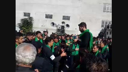 مراسم سینه زنی در مزار و گلزار شهدا شهر کردکوی 94 محرم.