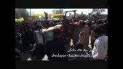 مانور تراکتور در راهپیمای 22 بهمن  شادگان