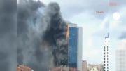 آتش سوزی شدید در برج 24 طبقه استانبول