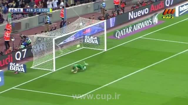 گل لیونل مسی؛ بارسلونا ( 3 ) - لوانته ( 0 )