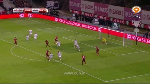 گل موتینیو؛ پرتغال ( 1 ) - دانمارک ( 0 )