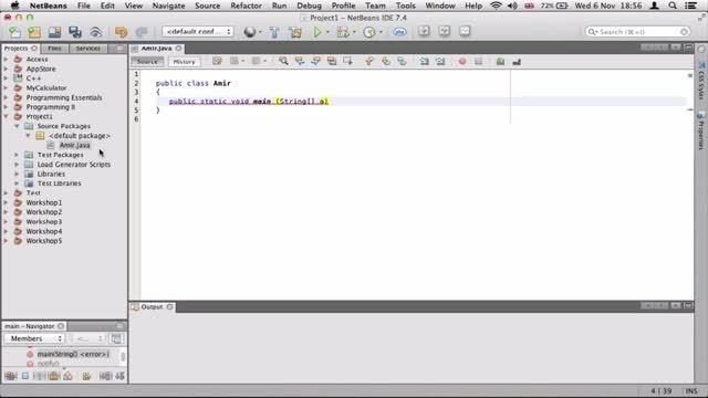 ۲- ساختن اولین پروژه جاوا Java