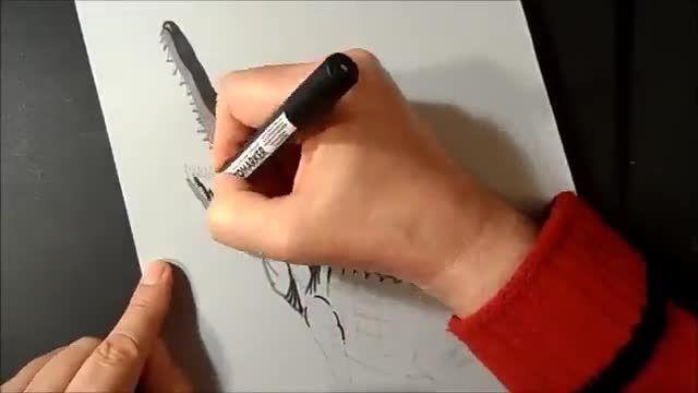 فوت و فن کشیدن نقاشی کروکودیل