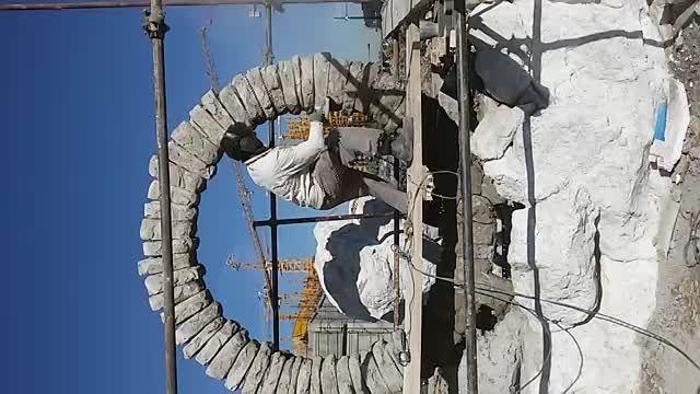 ساخت مجسمه در شهر پدیده شاندیز مشهد