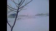 اولین بارش برف سال 1392 در شهر چرمهین