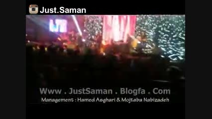 کنسرت سامان جلیلی در تهران ، آهنگ باریچه (جاست سامان)